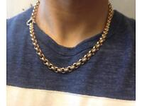9ct Gold Belcher Chain, 27g, 20.5""