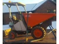 Ausa diesel dumper high tip 1t dumper for digger
