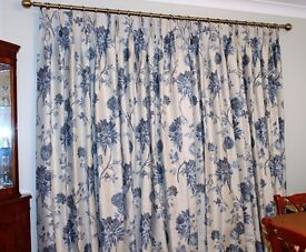 Pair of fully lined Curtains made by John Lewis