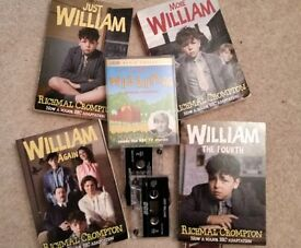 'JUST WILLIAM' - by Richmal Crompton - 4 BOOKS for £5.00 (audio cassettes also available)