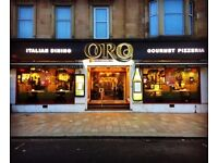 waiting staff required for ORO in Shawlands