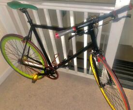 😎large adults personalise Rastafarian colours flip-flops Single Speed bicycle SE152JR📲