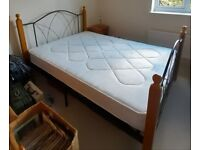 Double bed with John Lewis mattress