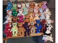35 mint condition Beanie Baby bears and Mystic baby