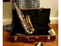 Alto Saxophone with Case and Reeds Hardly Used