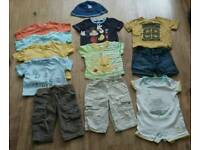 Baby boys summer clothing bundle - 3-6 mths