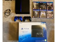 PlayStation 4 Console 1tb Boxed 2 controllers & 6 games PS4