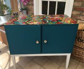 Teal cabinet
