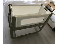 Snuzpod 2 bedside crib in Putty + lots of extras