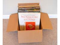 Job lot box of various vinyl records in original cardboard sleeves. Full list in description..
