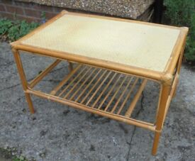 Cane Coffee Table to Upcycle