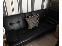 Black sofa bed 'click clack'