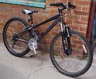 "Saracen small mountain bike, 12"" aluminium frame, 18 gears, 26"" wheels, suit young person"