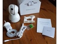 Wireless Security IP Camera 720P Pan + Tilt, Nanny Webcam, Motion Detection, Night Vision WiFi