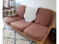 Vintage Ercol Blonde 3 Seater Sofa (203/3)