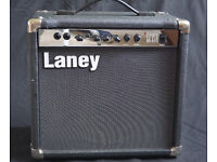 Laney LC15R - all-valve, UK, guitar amplifier. British made 15 watt valve amp with spring reverb.