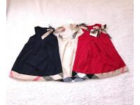 Burberry STYLE dresses x3 1-2 years