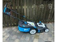 Nearly new electric lawn mower