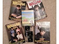 JUST WILLIAM - Audio Cassette set (+ Books 1-4 + Audio CD Robin Hood (available separately)]