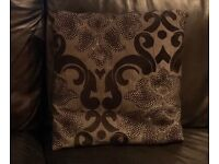 Black, silver and grey damask cushions x4 (House of Fraser)