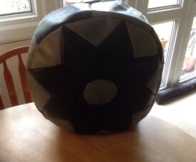 Reduced. Grey and blackCasablanca Market Moroccan stuffed faux leather pouffe/ottoman