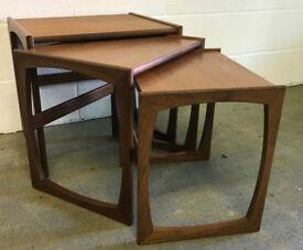 Mid Century GPlan Quadrille Range Teak Nest of 3 Tables
