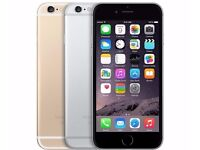 Apple iPhone 6 - 16GB - Silver (Unlocked) Smartphone Grade B (black front)