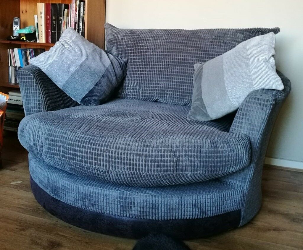 Tremendous Round Cuddle Up Sofa And Matching Foot Stool In Cupar Fife Gumtree Pabps2019 Chair Design Images Pabps2019Com