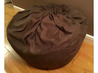 Giant Suede Feel JOHN LEWIS Brown Bean Bag - REALLY SOFT - Home Decoration Seating Large XL