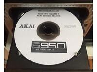 100 Akai S950 Sound Library Images For HxC Floppy Emulator .hfe Format (CDR)