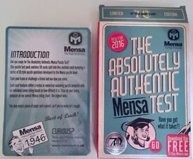 Mensa Test Card game, unopened