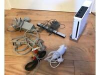 Nintendo Wii White Console & Nunchuck Controller