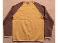 Brand new men's large Duffer of St George yellow jumper. 100% wool