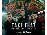 TAKE THAT WONDERLAND TICKETS