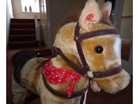 CHILDS ROCKING HORSE / Excellent Condition / Neighing Sounds / 2 Years +