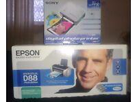 EPSON STYLUS D88 PRINTER AND SONY DIGITAL PHOTO PRINTER