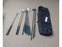 Set of golf clubs, good for beginners