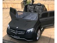 Mercedes GLS, 24v, Matt Black, Met Red, White,Parental Remote & Self Drive, 2 Seater Ride-On