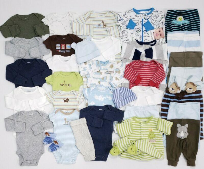 Baby Boy Clothing Lot of 34 Size Newborn Carter