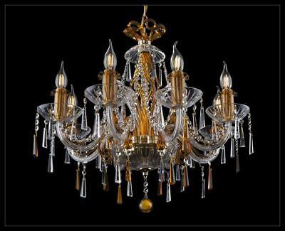 Dorada Lámpara de Techo Luces Diseño Araña de Cristal Lámparas Araña Cristal