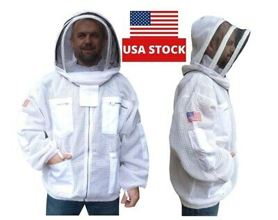 Xl Bee Jacket 3 Layer Ventilated Beekeeping Jacket Bee Suit Bee Keeping