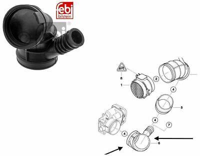 BMW E46 330i Air Intake Hose/Pipe for Throttle Housing FEBI 47221, 13541438759