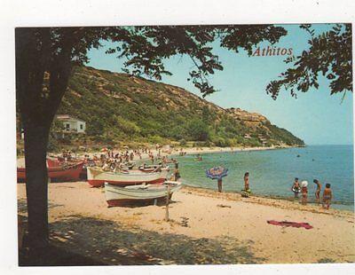Halkidiki Athitos Beach Greece Postcard 931a