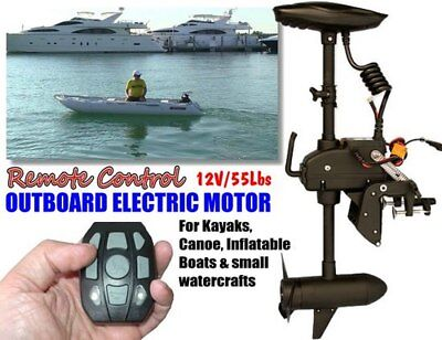 DELUXE 55lbs ELECTRIC TROLLING MOTOR w/ REMOTE CONTROL for KAYAK SMALL BOAT