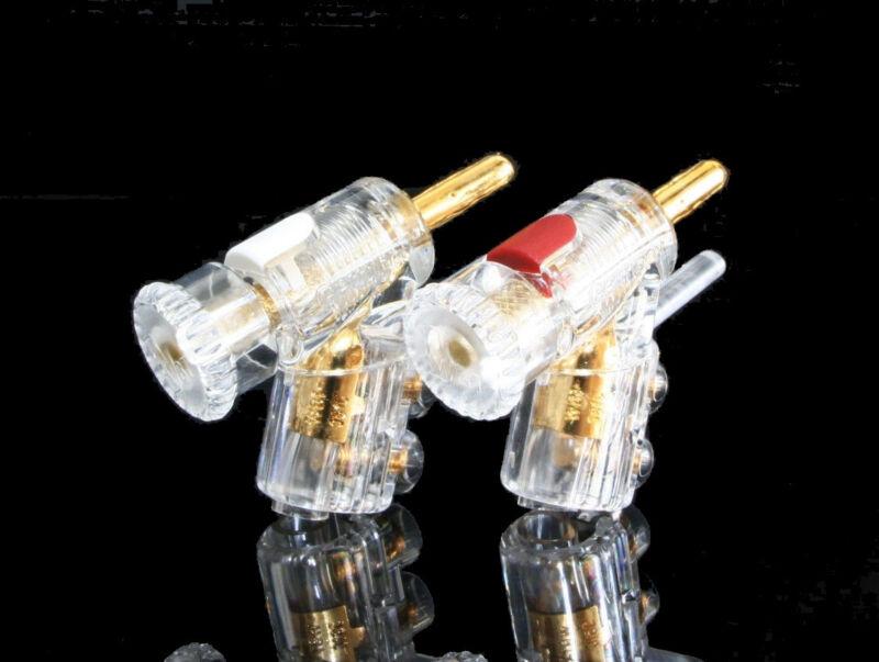 WBT 0610Cu 0610 red white Banana connectors *4pcs