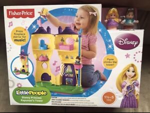 BNIB FISHER PRICE LITTLE PEOPLE DISNEY PRINCESS RAPUNZEL'S TOWER