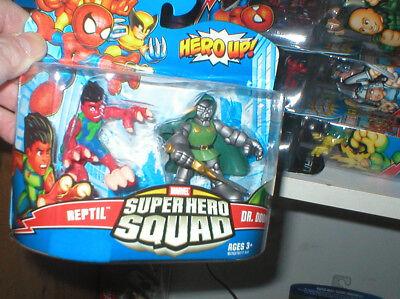 MARVEL SUPER HERO SQUAD SERIES REPTIL AND DR. DOOM, NEVER OPENED (Reptil Super Hero Squad)
