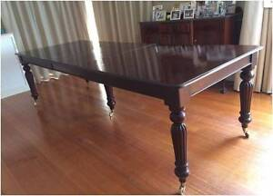 MASSIVE VICTORIAN ANTIQUE STYLE MAHOGANY DINING TABLE SEATS 10-12 Croydon South Maroondah Area Preview