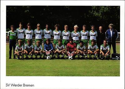 AK 4426 Alte Mannschaftskarte SV Werder Bremen 82/83