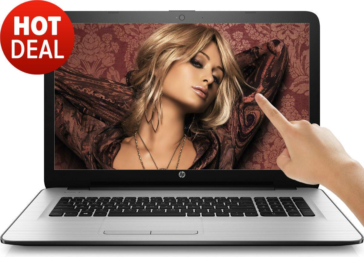 "$439.95 - HP 17.3"" TouchScreen 8GB Intel Pentium 2.56GHz 2TB DVD+RW WebCam WIN10 Laptop PC"
